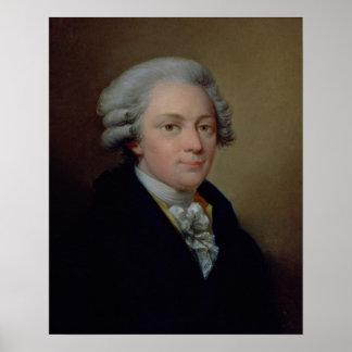 Retrato de Wolfgang Amadeus Mozart Impresiones