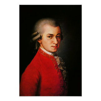 Retrato de Wolfgang Amadeus Mozart Posters
