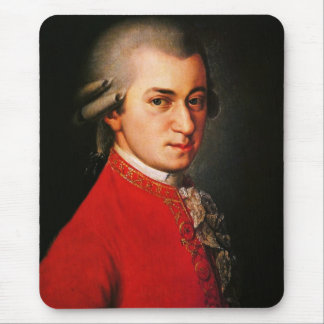Retrato de Wolfgang Amadeus Mozart Tapetes De Ratón