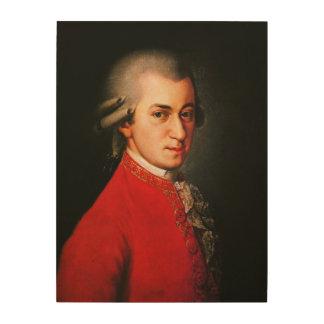 Retrato de Wolfgang Amadeus Mozart Cuadro De Madera