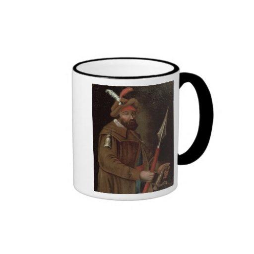 Retrato de Yermak Timofeyevich, 1700-50 Taza De Café