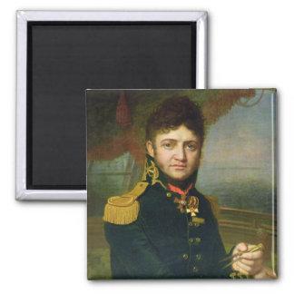 Retrato de Yuri F. Lisyansky, 1810 Imán Cuadrado