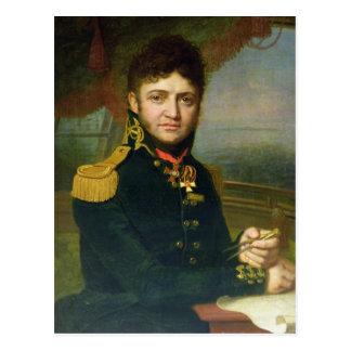 Retrato de Yuri F. Lisyansky, 1810 Tarjeta Postal