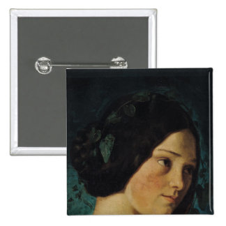 Retrato de Zelie Courbet, c.1842 Pin Cuadrada 5 Cm