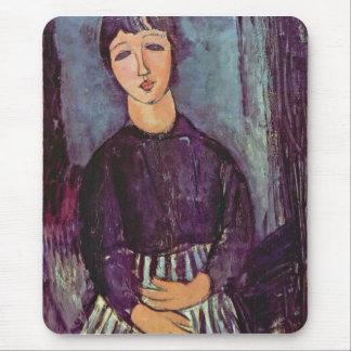 Retrato de Zofe de Amedeo Modigliani Alfombrillas De Ratones