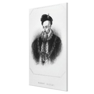 Retrato del 1r conde de Roberto Dudley de Impresiones De Lienzo