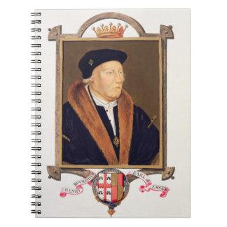 Retrato del 2do conde de Henry Bourchier (d.1539)  Libro De Apuntes Con Espiral