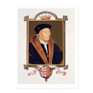 Retrato del 2do conde de Henry Bourchier (d.1539) Postales