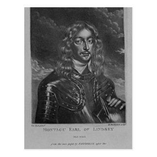 Retrato del 2do conde de Lindsay Postal