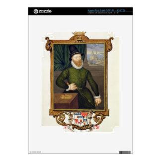 Retrato del 4to conde de James Douglas (c.1516-81) iPad 3 Pegatinas Skins
