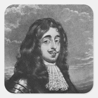 Retrato del 8vo conde de Derby Pegatina Cuadrada