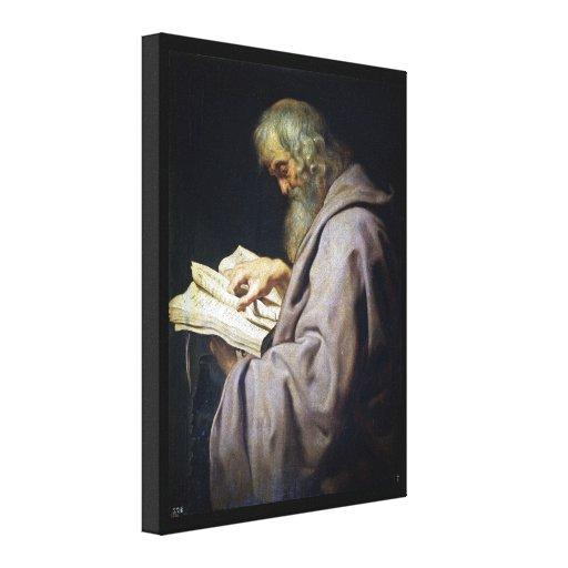 Retrato del aceite de Simon Peter Paul Rubens del  Lona Estirada Galerias