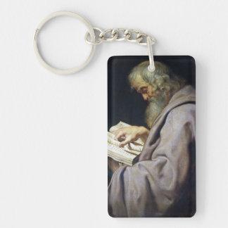 Retrato del aceite de Simon Peter Paul Rubens del Llavero Rectangular Acrílico A Doble Cara