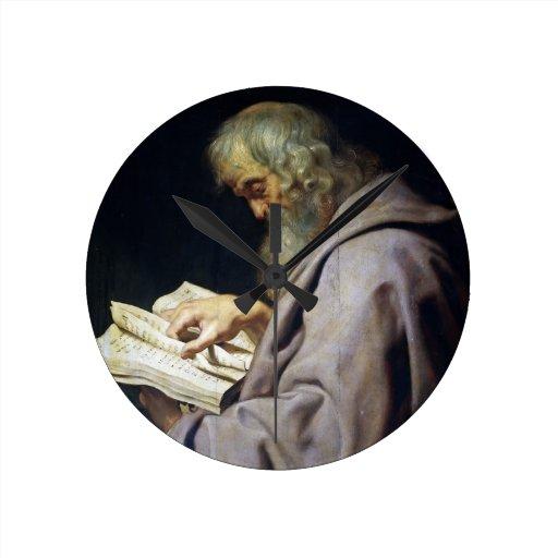 Retrato del aceite de Simon Peter Paul Rubens del  Relojes