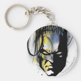 Retrato del aerógrafo de Batman Llavero Redondo Tipo Pin