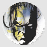 Retrato del aerógrafo de Batman Pegatina Redonda