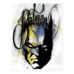 Retrato del aerógrafo de Batman Postal
