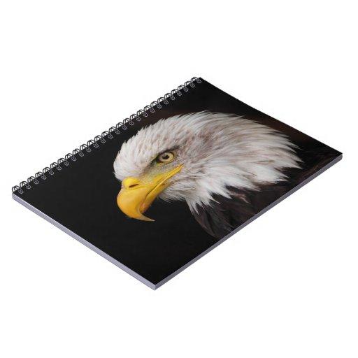 Retrato del águila libros de apuntes con espiral