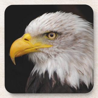 Retrato del águila posavasos de bebidas