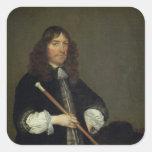 Retrato del alcalde pegatina cuadrada