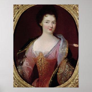 Retrato del Alexandrine Guerin de Claudina Póster