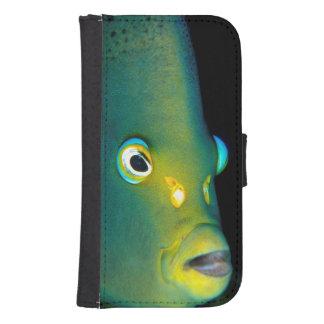 Retrato del Angelfish del semicírculo, bahía de Fundas Tipo Billetera Para Galaxy S4