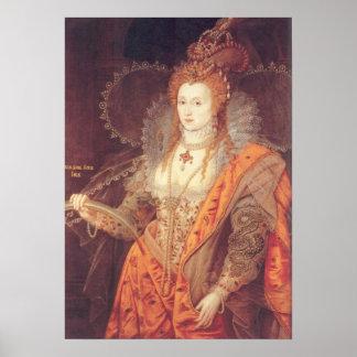 Retrato del arco iris de Elizabeth I Póster