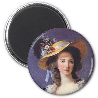 Retrato del aristócrata francés imanes de nevera