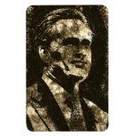 Retrato del arte del Grunge de Mitt Romney Imán Rectangular