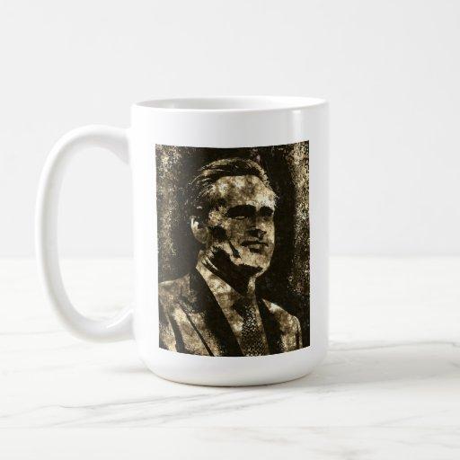 Retrato del arte del Grunge de Mitt Romney Tazas De Café