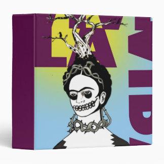 "Retrato del arte pop de Frida Kahlo Carpeta 1 1/2"""