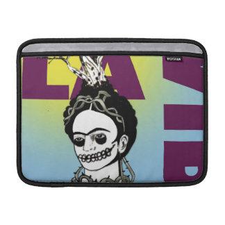 Retrato del arte pop de Frida Kahlo Fundas Macbook Air