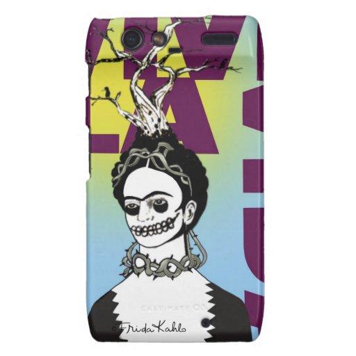 Retrato del arte pop de Frida Kahlo Funda Para Droid RAZR