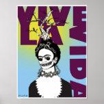 Retrato del arte pop de Frida Kahlo Impresiones
