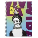 Retrato del arte pop de Frida Kahlo Libro De Apuntes