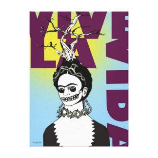 Retrato del arte pop de Frida Kahlo Impresión En Lona