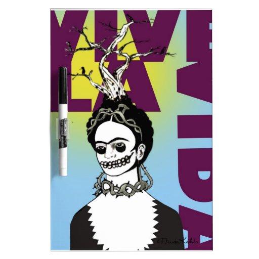 Retrato del arte pop de Frida Kahlo Pizarras Blancas