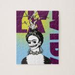 Retrato del arte pop de Frida Kahlo Puzzle Con Fotos