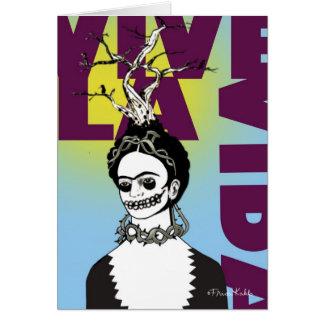 Retrato del arte pop de Frida Kahlo Tarjeta De Felicitación