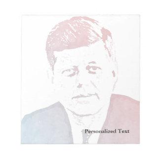 Retrato del arte pop de John F. Kennedy Libretas Para Notas