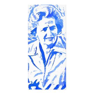 Retrato del arte pop de Margaret Thatcher Lona Publicitaria