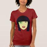 Retrato del arte pop de un chica asiático camisetas