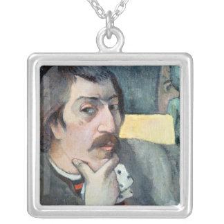 Retrato del artista con el ídolo, c.1893 colgante cuadrado
