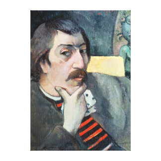 Retrato del artista con el ídolo c 1893 lienzo envuelto para galerias