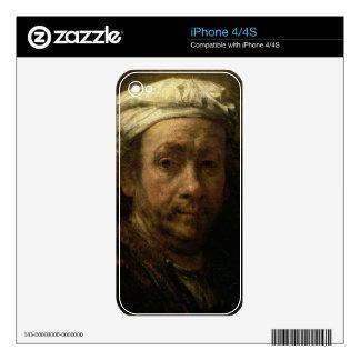 Retrato del artista en su caballete, detalle del iPhone 4S calcomanías
