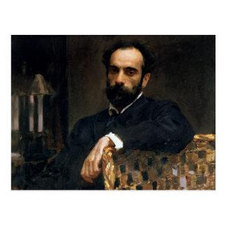 Retrato del artista Isaak Ilyich Levitan Postales