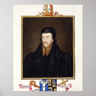 Retrato del arzobispo de Edmund Grindal (c.1519-83 Póster