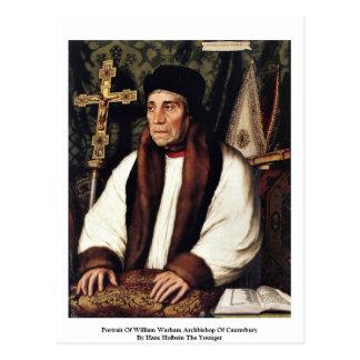 Retrato del arzobispo de Guillermo Warham Tarjeta Postal