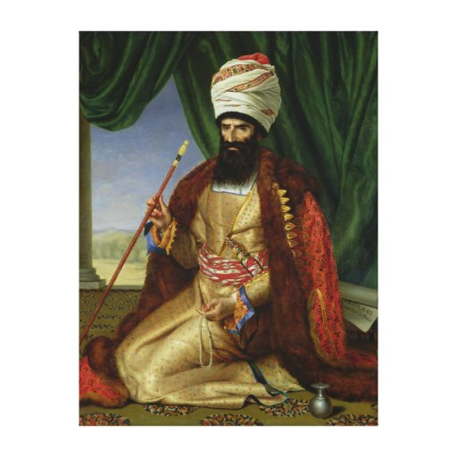 Retrato del asker-Khan, embajador de Persia Lienzo Envuelto Para Galerias