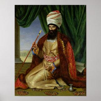 Retrato del asker-Khan, embajador de Persia Poster